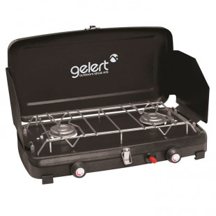 Gelert double burner shield grill